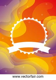 orange vibrant colors background with circle lace