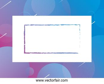 blue vibrant colors background square frame