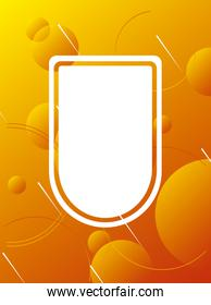 orange vibrant colors background with shield
