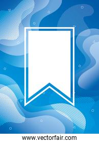 blue vibrant colors background with tape frame