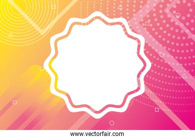 orange and pink vibrant colors background with seal lace
