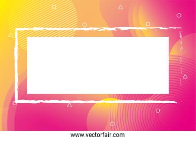 orange and pink vibrant colors background square frame