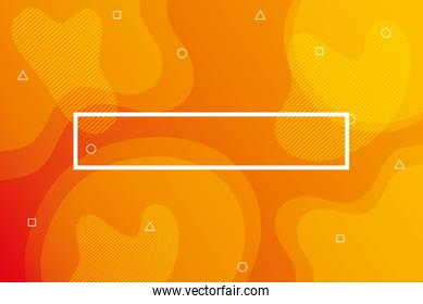 orange vibrant colors background square frame