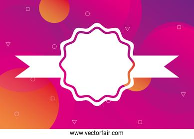 pink vibrant colors background with seal stamp