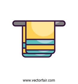 hanger with towel icon, line color style