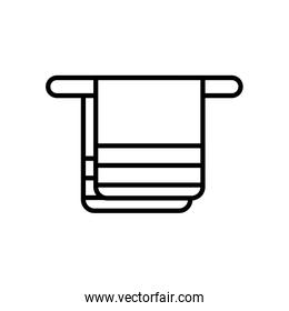 hanger with towel icon, line style