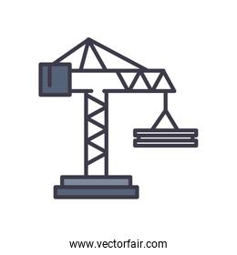 Isolated crane fill style icon vector design