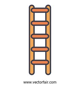 Isolated ladder fill style icon vector design