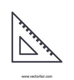Isolated ruler line style icon vector design