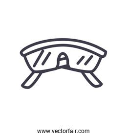 Isolated construction glasses line style icon vector design