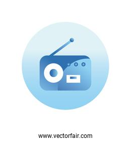 Radio gradient style icon vector design