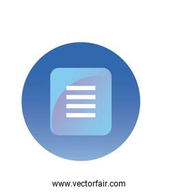 data document gradient style icon vector design