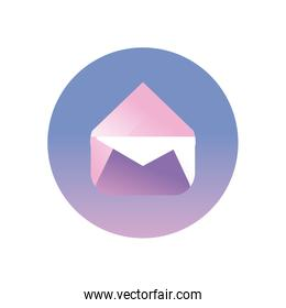 envelope message gradient style icon vector design