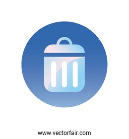 trash icon gradient style icon vector design