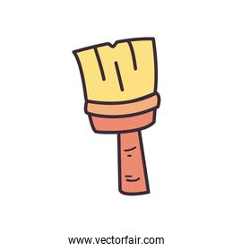 Paint brush fill style icon vector design