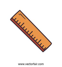 Isolated ruler instrument fill style icon vector design