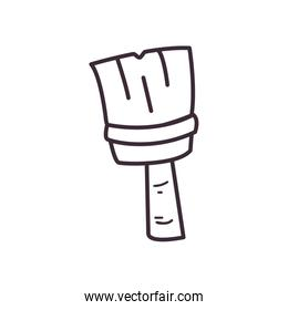 Paint brush line style icon vector design