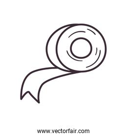 Isolated adhesive tape adhesive line style icon vector design
