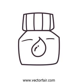 Isolated ink bottle line style icon vector design