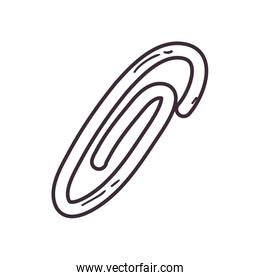 Isolated clip line style icon vector design