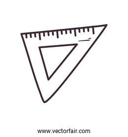 Isolated ruler instrument line style icon vector design