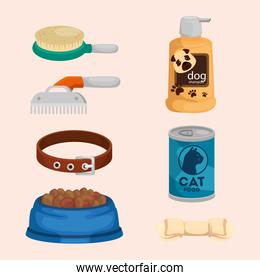 collection of icons for care animals
