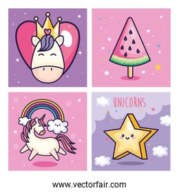 collection of cute and fantasy icons