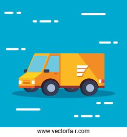 delivery service van transportation isolated icon