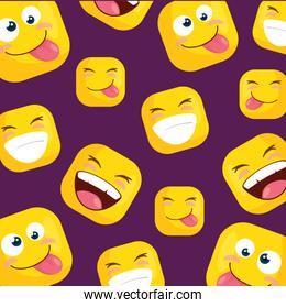 background with funny emoticons icons