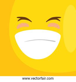 background with emoticon smiling icon