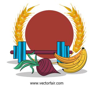 healthy life style set icons