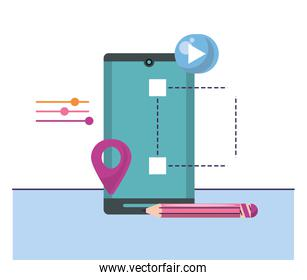 smartphone device technology with pin location