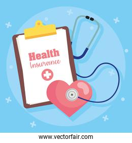 health insurance service with medical order