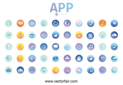 thumb up gradient style icon vector design