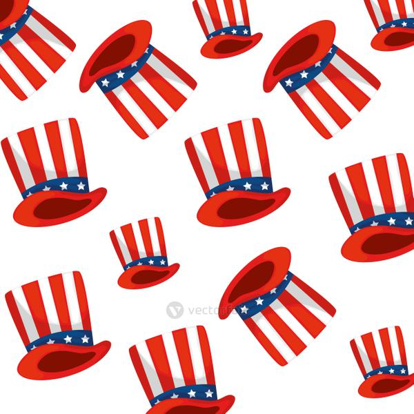 Isolated usa hat background vector design