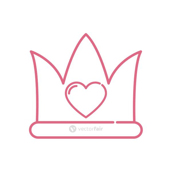 Isolated heart inside crown vector design