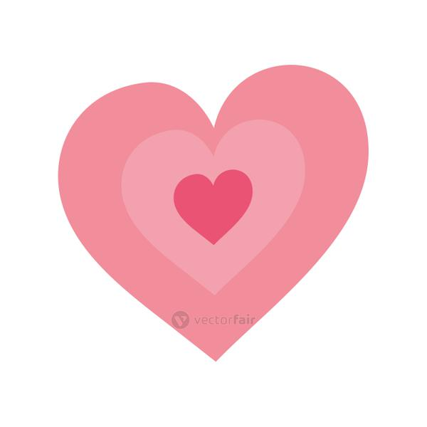 cute hearts love isolated icon