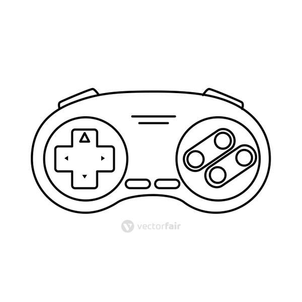 control game nineties style isolated icon