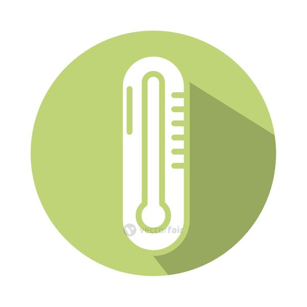 medical thermometer tool block style icon