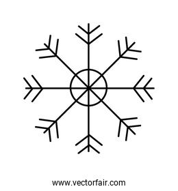 snowflake decoration traditional line style icon