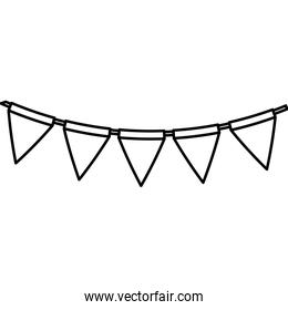 garland hanging decoration line style icon