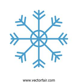 snowflake decoration traditional isolated icon