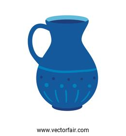 teapot of pottery decorative isolated icon