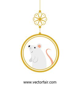 cute rodent rat in decoration chinese hanging