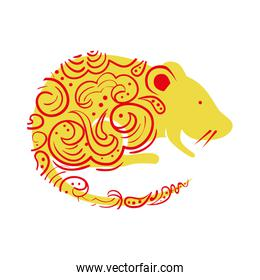 cute rodent rat isolated icon