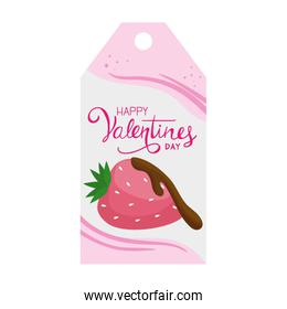 label of valentines day with decoration