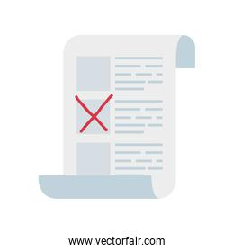 vote form with candidates isolated icon