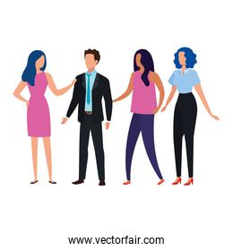 meeting of business people avatar characters