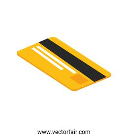 credit card electronic isolated icon