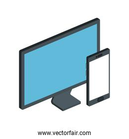 smartphone device with computer isolated icon